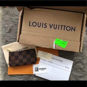 Louis Vuitton Damier Ebene Key Pouch, ❌NO BOX❌